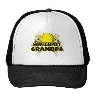 Softball Grandpa (cross).png Mesh Hats
