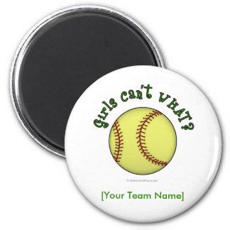 Softball-Green Fridge Magnet