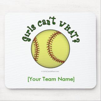 Softball-Green Mousepad