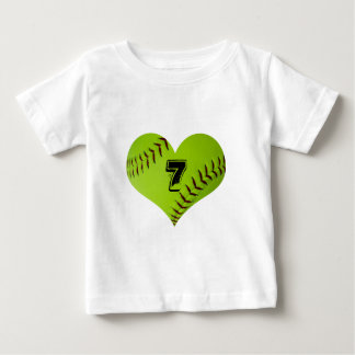 softball heart kid T-Shirt