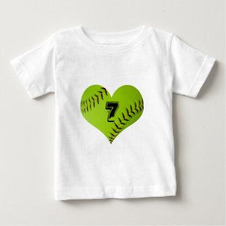 softball heart kid T-Shirt