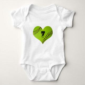 softball heart outfit t-shirt