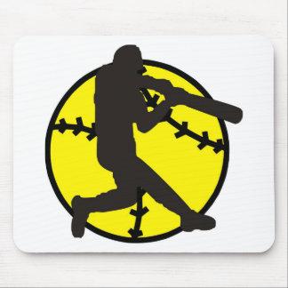 Softball Hitter Mouse Pad