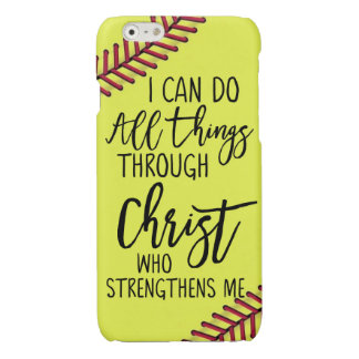 Softball I Can Do All Things Through Christ Who