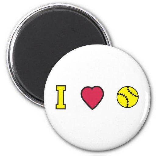Softball I Heart Magnet