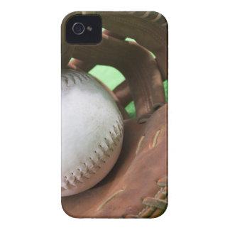 Softball in catcher's glove iPhone 4 cases