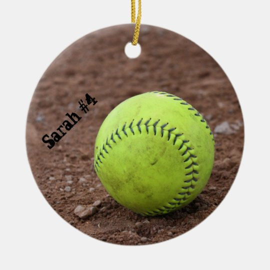 Softball in the Dirt Christmas Ornament
