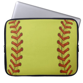 Softball is fun laptop sleeve