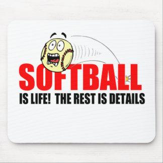 Softball Is Life Mousepads