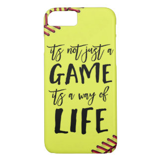Softball Its Not Just A Game Quote iPhone 8/7 Case