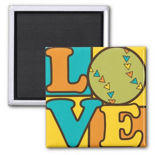 Softball Love Refrigerator Magnet