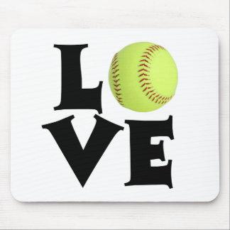 Softball Love Mouse Pad