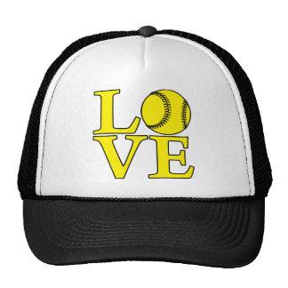 Softball LOVE, yellow Cap
