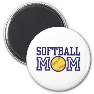 Softball Mom 6 Cm Round Magnet