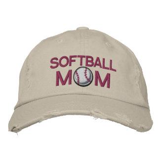 Softball Mom Embroidered Baseball Cap