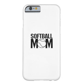 Softball mom Funny Gift  for Women Barely There iPhone 6 Case