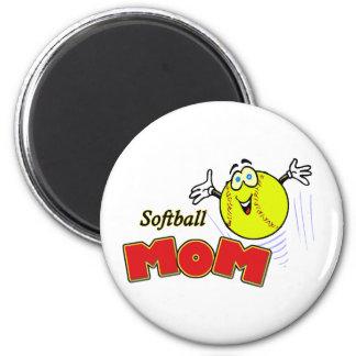 Softball Mom II Fridge Magnets