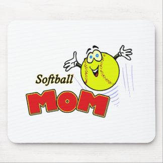 Softball Mom II Mouse Pads