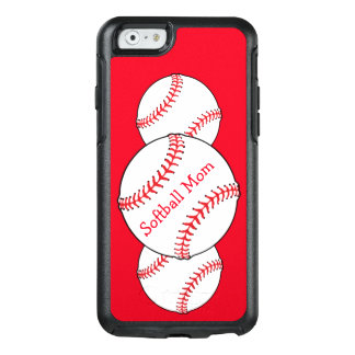 Softball Mom White Red OtterBox iPhone 6/6s Case