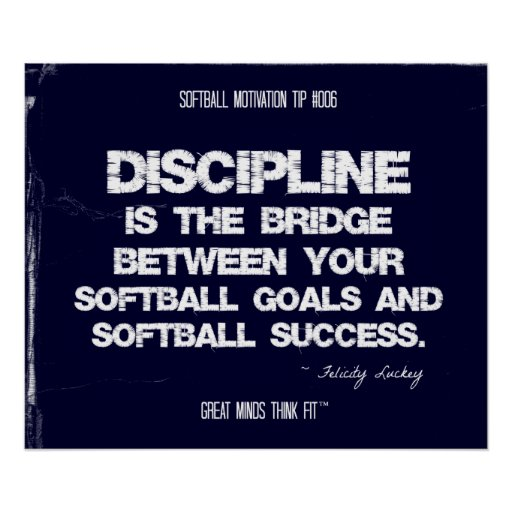Softball Motivation 006 Poster