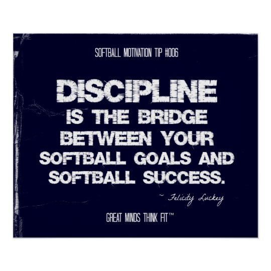 Softball Motivation 006 Poster