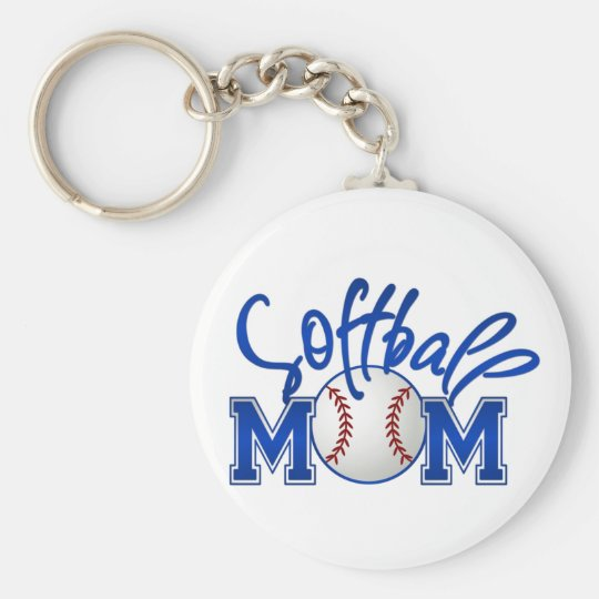 Softball Mum Key Ring