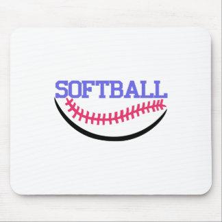 Softball Name Drop Mouse Pad