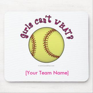 Softball-Pink Mouse Pads