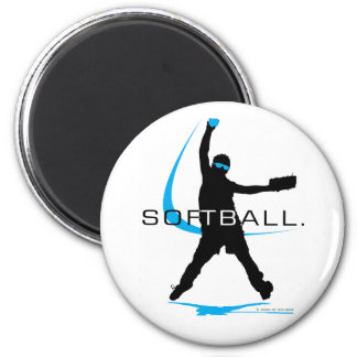 Softball - Pitcher 6 Cm Round Magnet