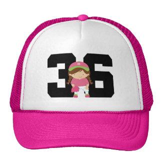 Softball Player Uniform Number 36 (Girls) Gift Hats