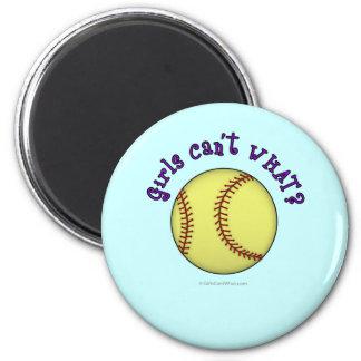 Softball-Purple 6 Cm Round Magnet