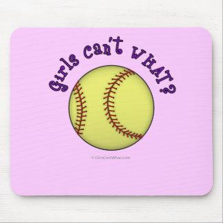Softball-Purple Mousepad