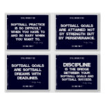 Softball Quotes Blue Collage 5-8 Poster