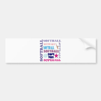 Softball Repeating Bumper Sticker
