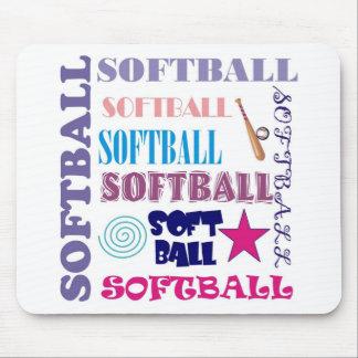 Softball Repeating Mousepad