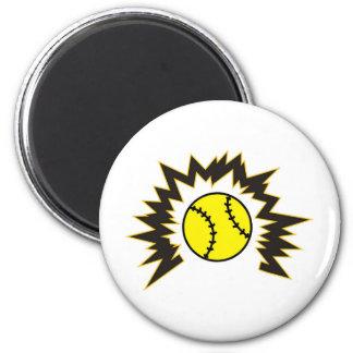 Softball Shatter 6 Cm Round Magnet