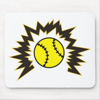 Softball Shatter Mouse Pad