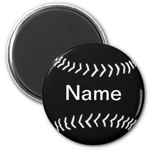 Softball Silhouette Magnet Black