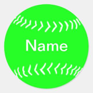 Softball Silhouette Sticker Green