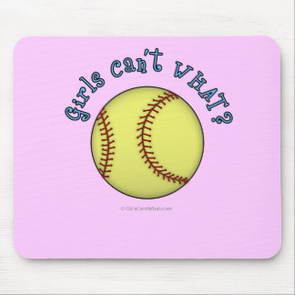 Softball-Sky Blue Mouse Pad