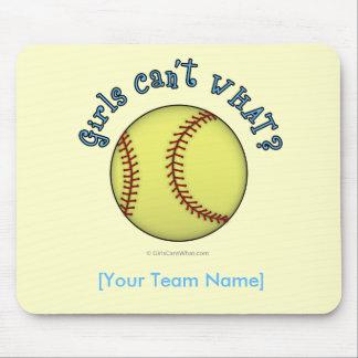 Softball-Sky Blue Mouse Pads