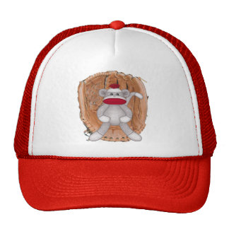 Softball Sock Monkey Hat