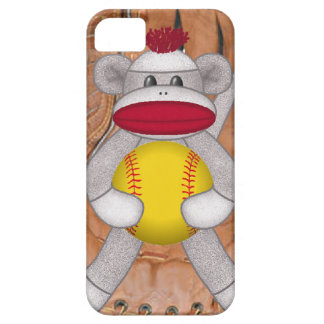 Softball Sock Monkey iPhone or Smart Phone Case