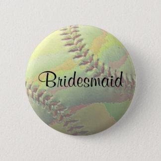 Softball Sports Wedding Theme Wedding Party 6 Cm Round Badge