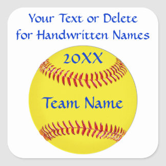 Softball Stickers 3 Text Boxes or Delete