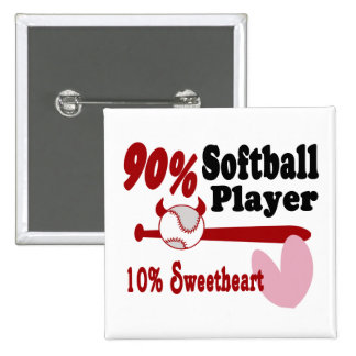 Softball Sweetheart Pinback Buttons