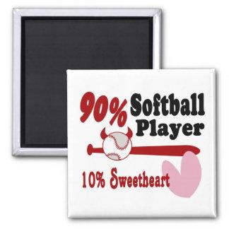 Softball Sweetheart Square Magnet