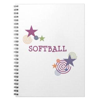 Softball Swirl Notebooks