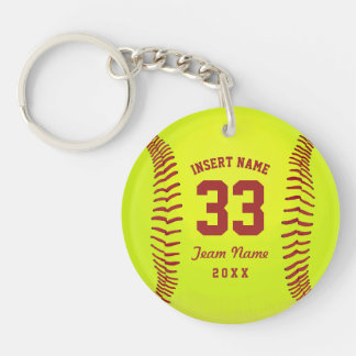 Softball Team Custom Key Ring