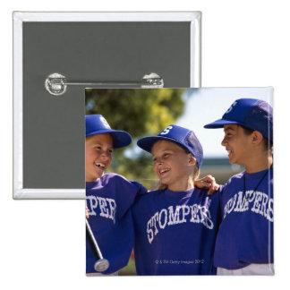 Softball teammates 15 cm square badge